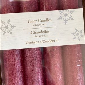 READ BELOW! NWT Pier 1 Red Taper Candles
